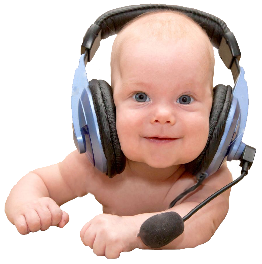 14587994-Nice-newborn-baby-boy-with-blue-eyes-smiling-wearing-a-headset-Can-I-help-you-Or-teaching-a-foreign-Stock-Photo